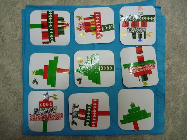 basteln im Kindergarten Weihnachten