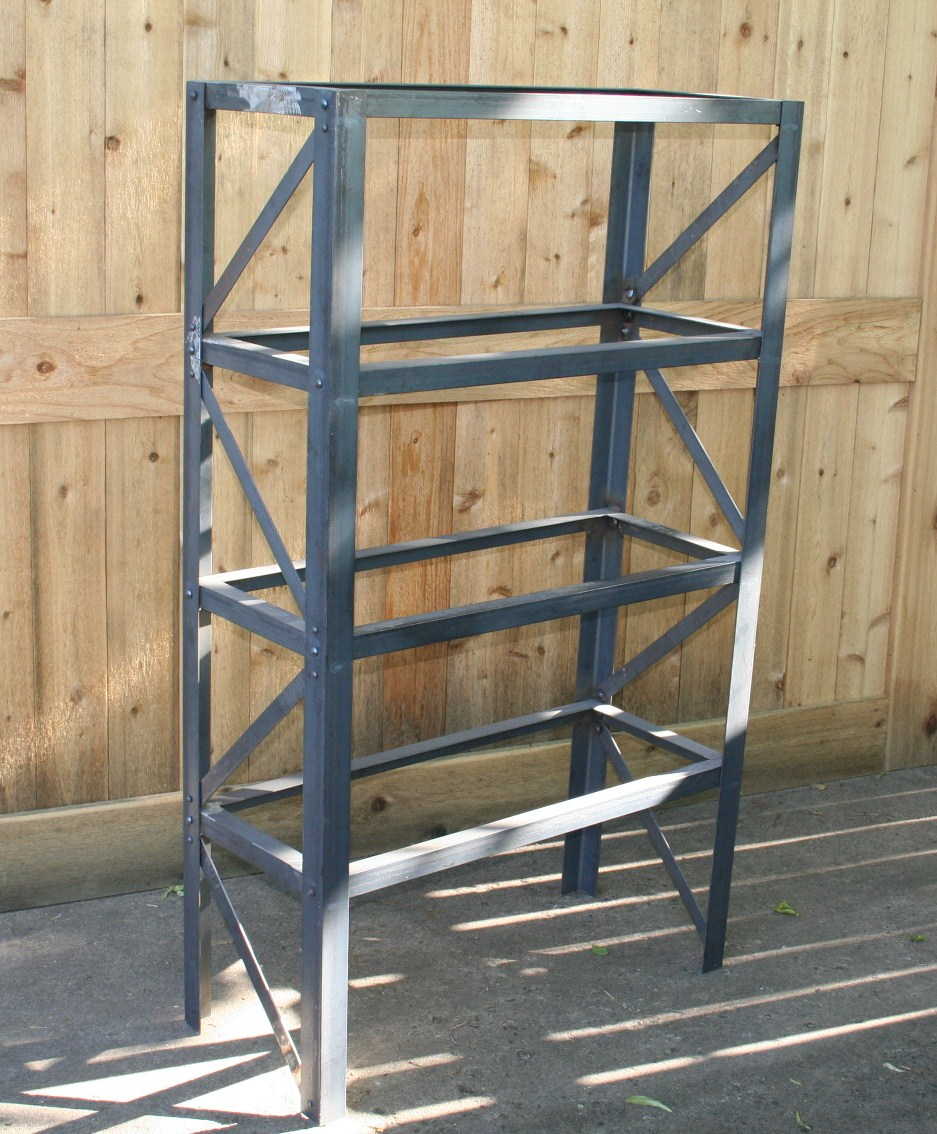 Real Industrial Edge Furniture Llc Industrial Scrap Metal Bookshelf