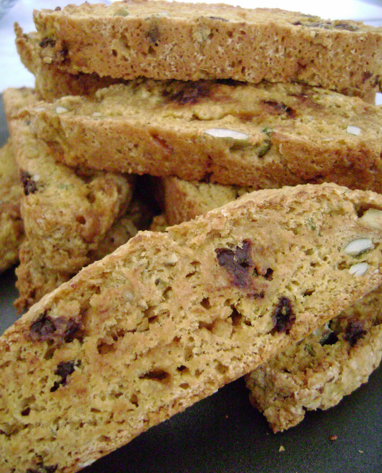 ... and Sue: Pumpkin Biscotti with Toffee, Choc Chips, and Pumpkin Seeds