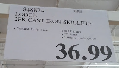 Deal for the Lodge Cast Iron Skillet Set (2 pack) at Costco
