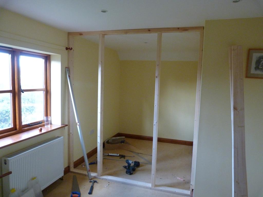 Door Frame Building A Stud Wall With Door Frame
