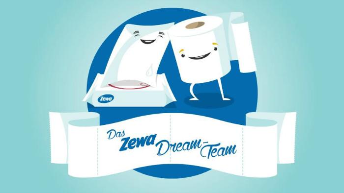 Das zewa Dream-Team Mandelmilch Toilettenpapier und feuchte Toilettentücher