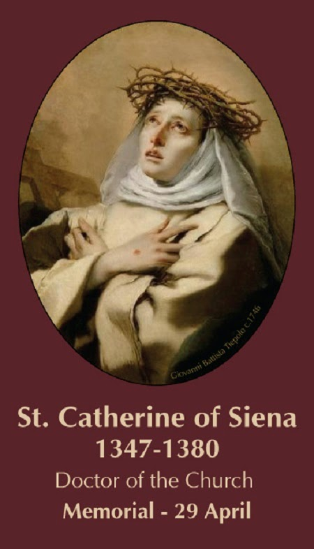 APRIL 29 - St Catherine of Siena - Santa Katerina ta' Siena