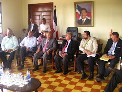 Reunión Con el Gerente General de Edenorte en Gobernación de Cotuí