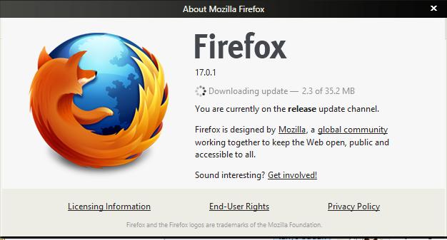 Update Mozila firefox terbaru