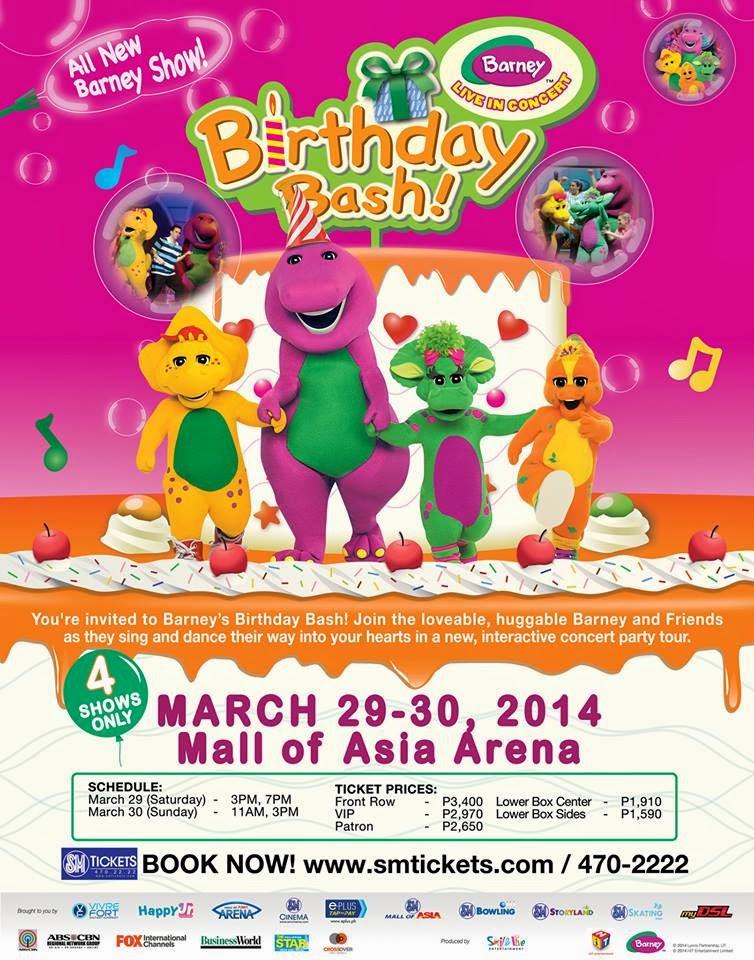 Barneys Birthday Bash MANILA CONCERT SCENE - Barney live in concert birthday