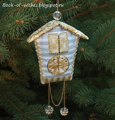 Handmade Christmas clock