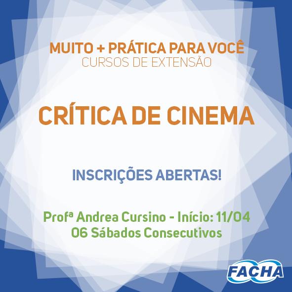 CURSO DE CRÍTICA DE CINEMA NA FACHA