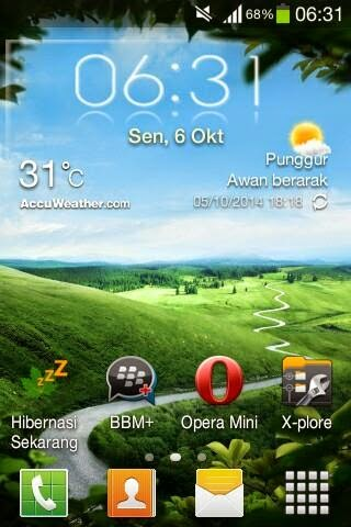 Accu Weather Transparent (Dodex) For All Tipe Samsung Galaxy
