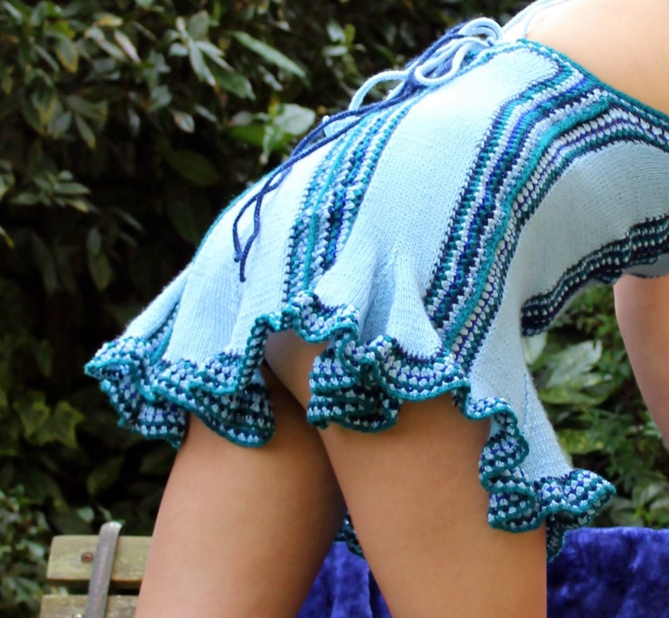 sukienka szydelkiem i na drutach