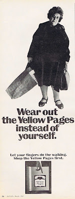 Yellow Pages ad from 1967 McCalls Magazine.