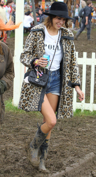Alexa Chung at Glastonbury 2011