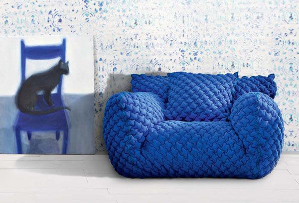 fauteuil design tricot