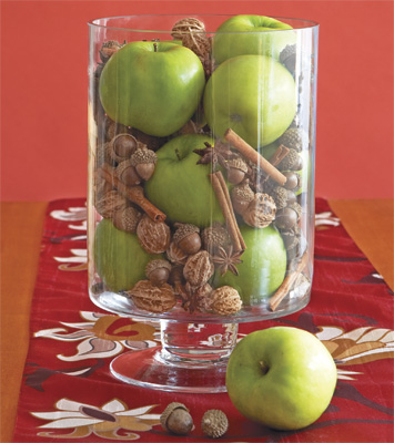 A desire to inspire holiday apple centerpieces for Apple decoration ideas