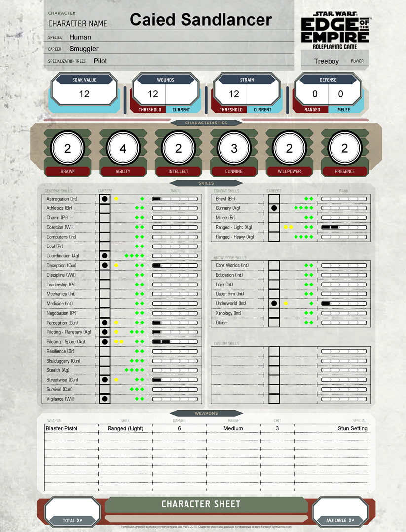 edge of the empire vehicle sheet