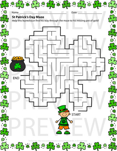Resource image with regard to st patrick day puzzles printable free