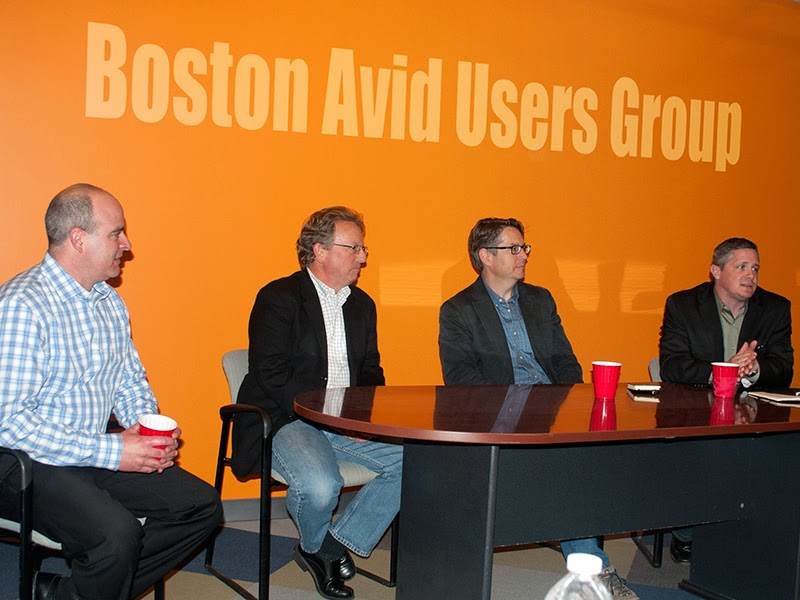 The NAB Wrap-up panel at the June Boston Avid Users Group Meeting.