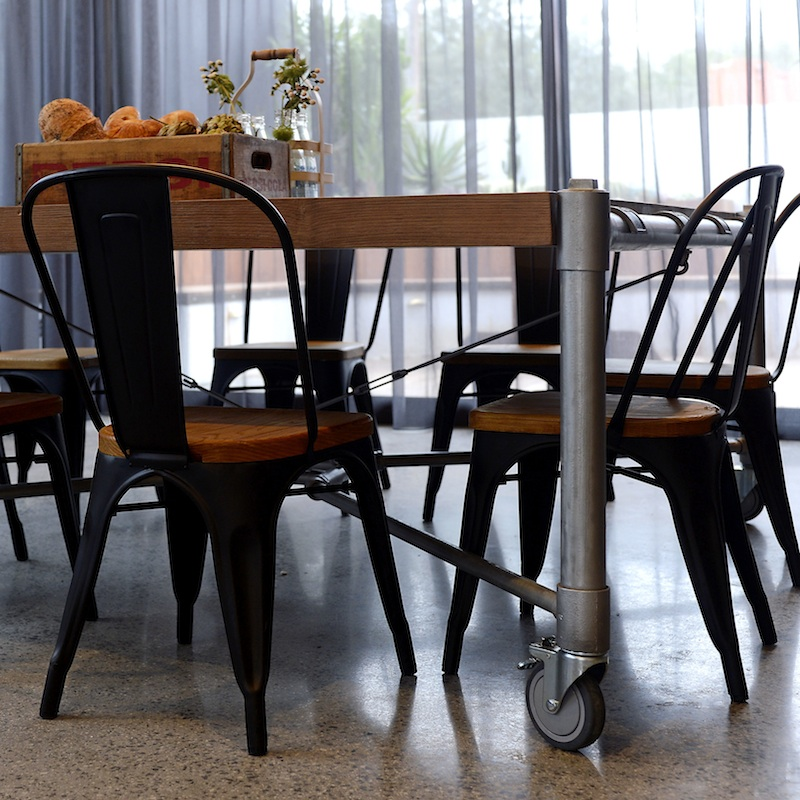 Dining Room Table On Wheels Modern Dining Chairs With