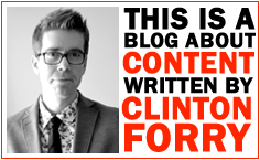 A Content Strategy blog by Clinton Forry