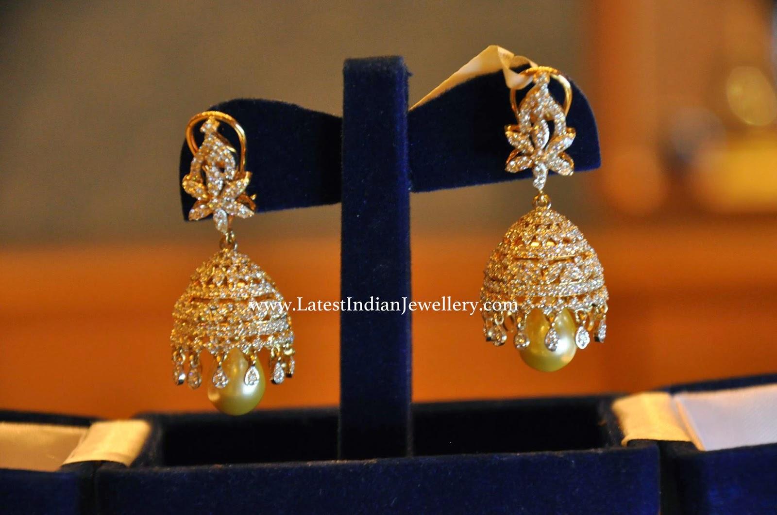 Classy Diamond Jhumkas