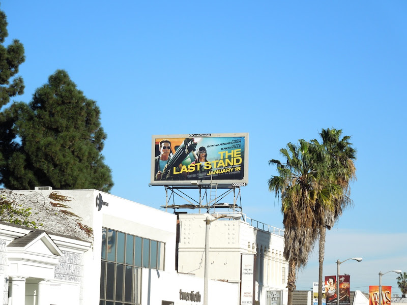 Last Stand movie billboard