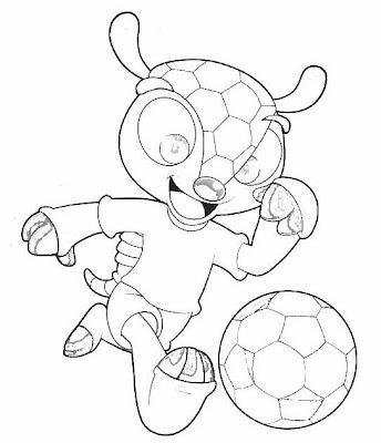 Dibujo para pintar la Mascota del Mundial Brasil 2014
