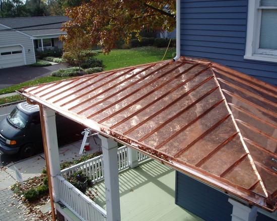 Scottt morrow slate tile roofing of atlanta copper for Copper standing seam roof
