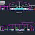 مخطط مطعم بتصميم مميز اوتوكاد dwg