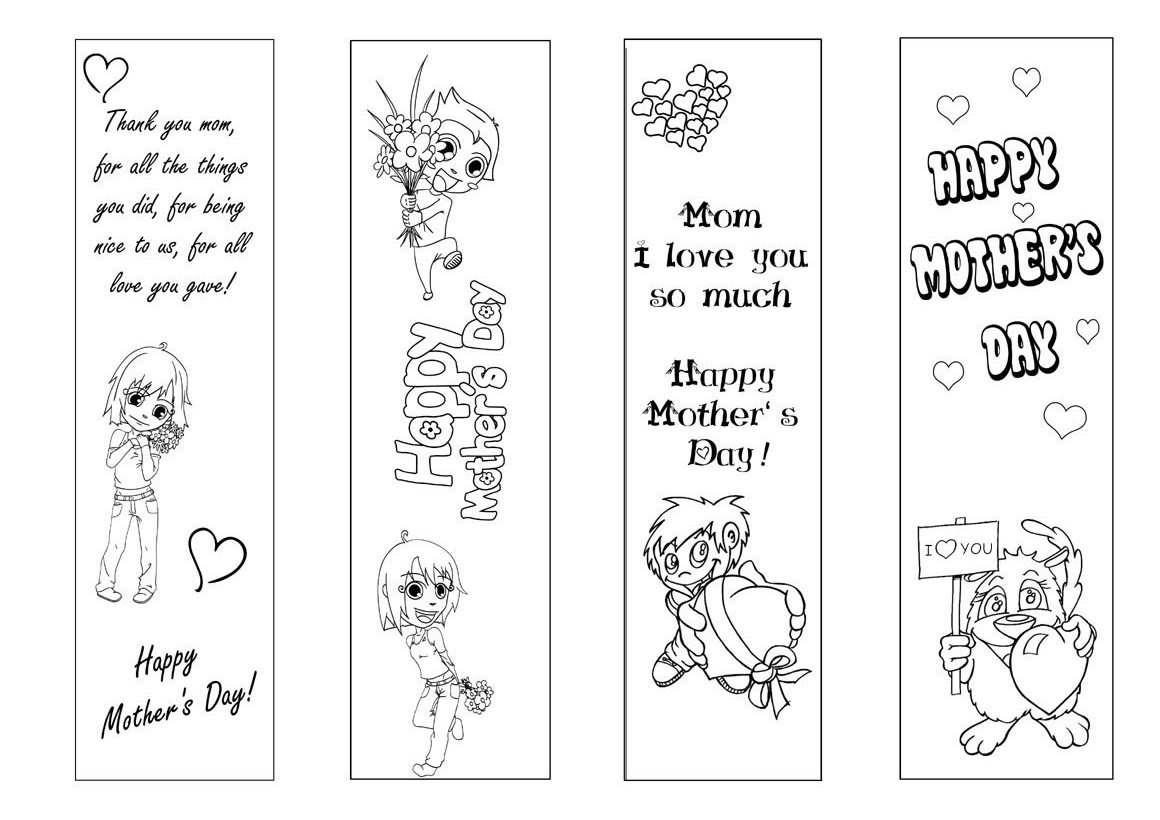 Free Coloring Pages Of Bookmark Children