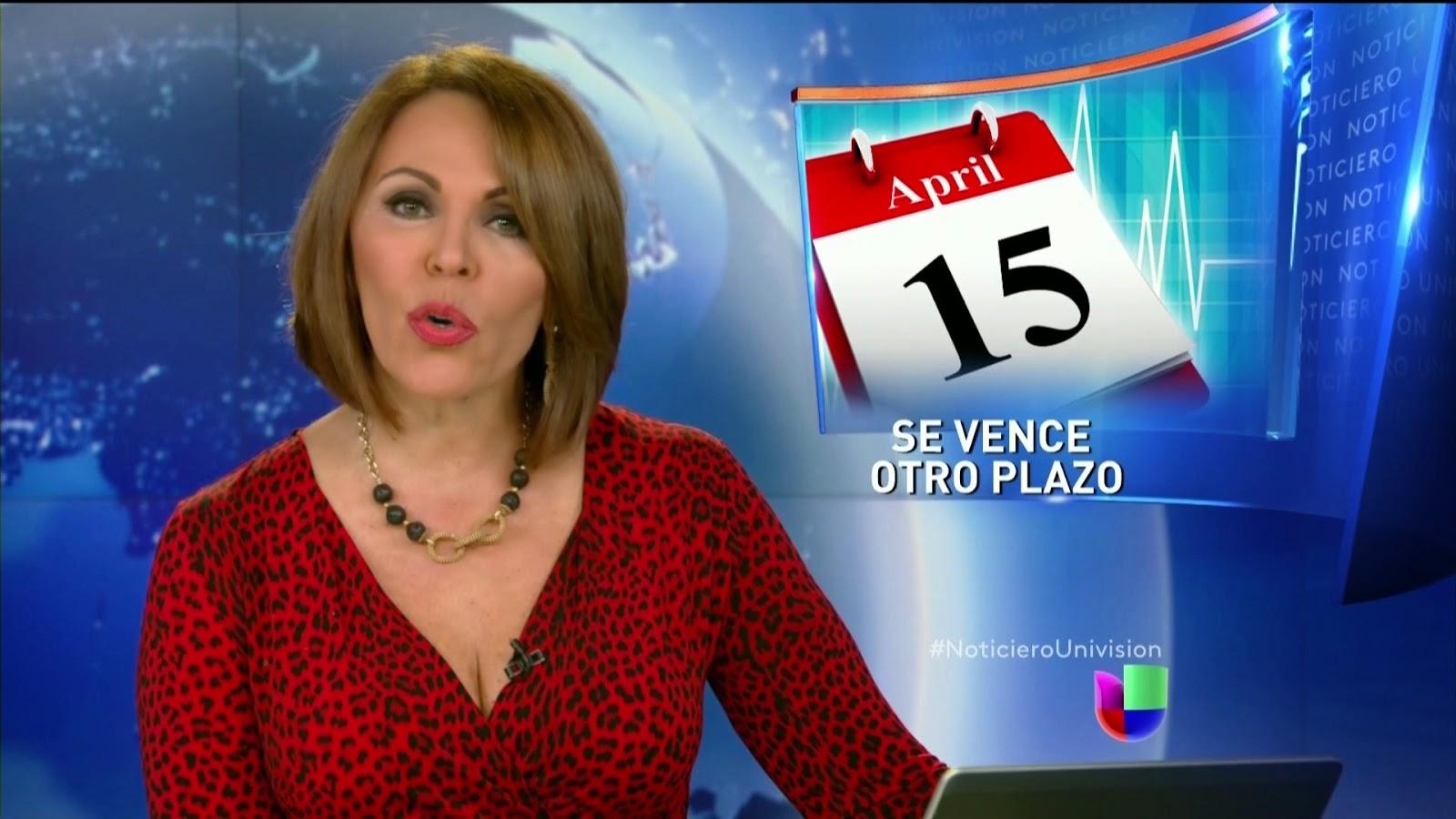 Maria Elena Salinas cleavage
