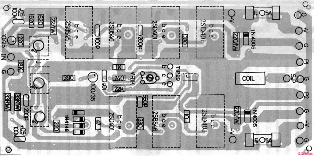 insider 500 watt amb cercuit pcb layout