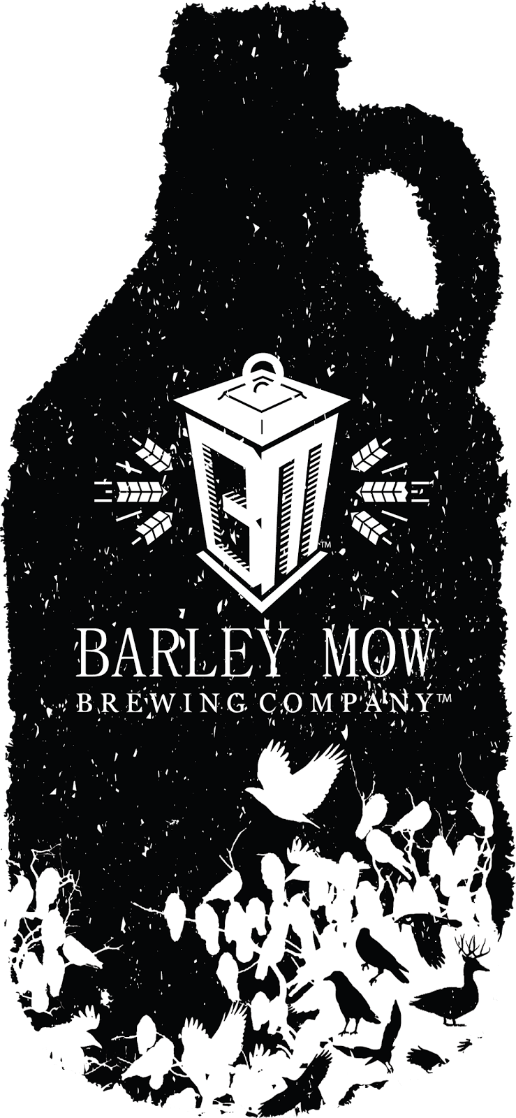 barley mow brewing company growler icon donald ambroziak graphic