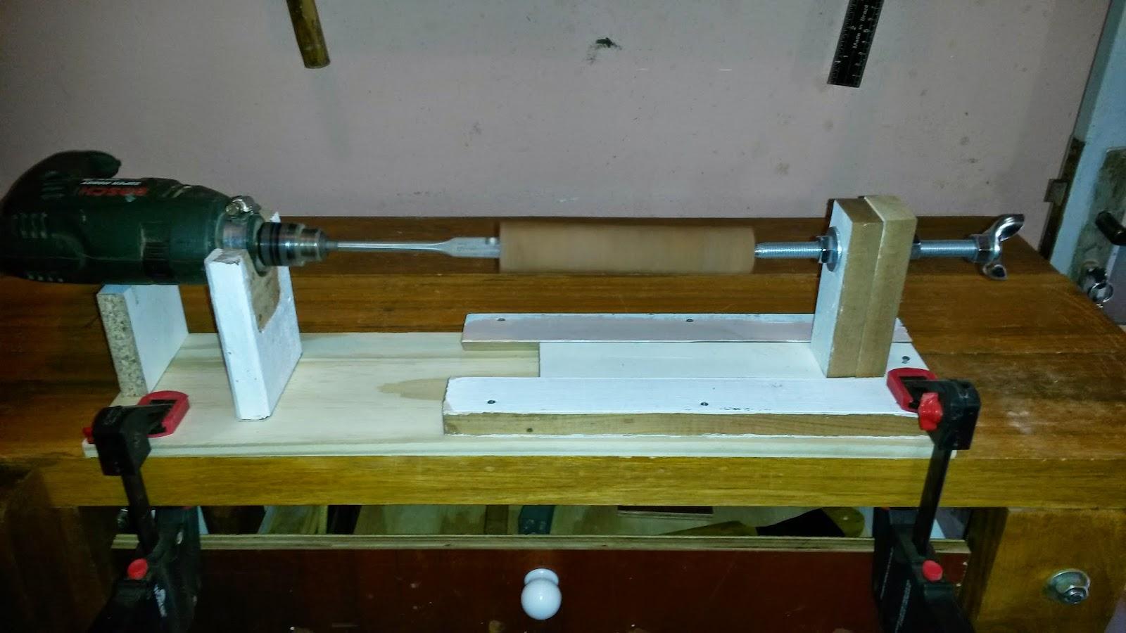 Oficina do Quintal: Como fazer um mini torno para madeira #5F4510 1600x900