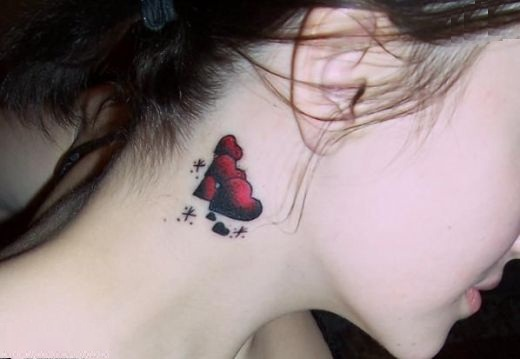 Fashion buster neck tattoo designs for Sexy tattoo designs