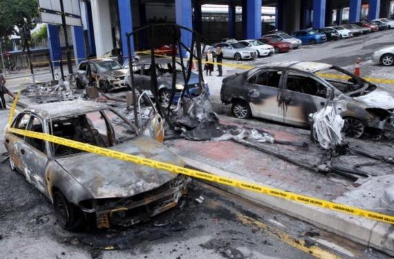 Punca kebakaran kereta di LRT Taman Jaya