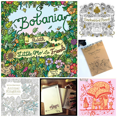 image colouring books for adults etsy illustrated coloring