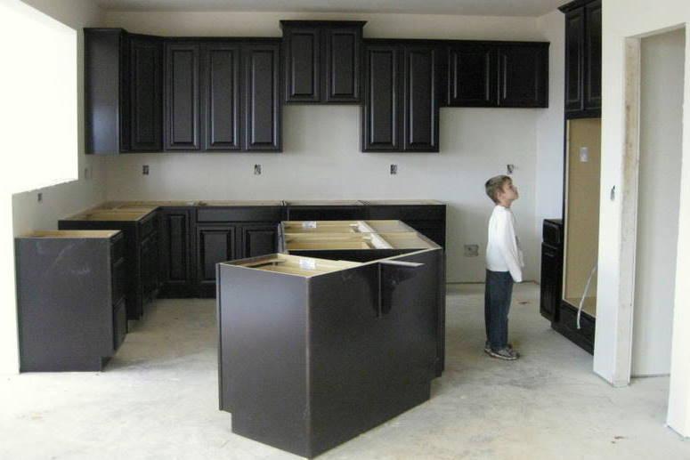Espresso Kitchen Cabinet