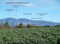 Panoràmica del Prepirineu des dels camps del Pla de Vilamajor