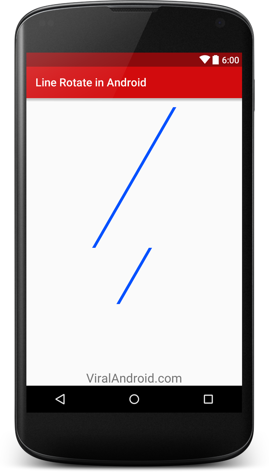 How to Rotate a Line in Android