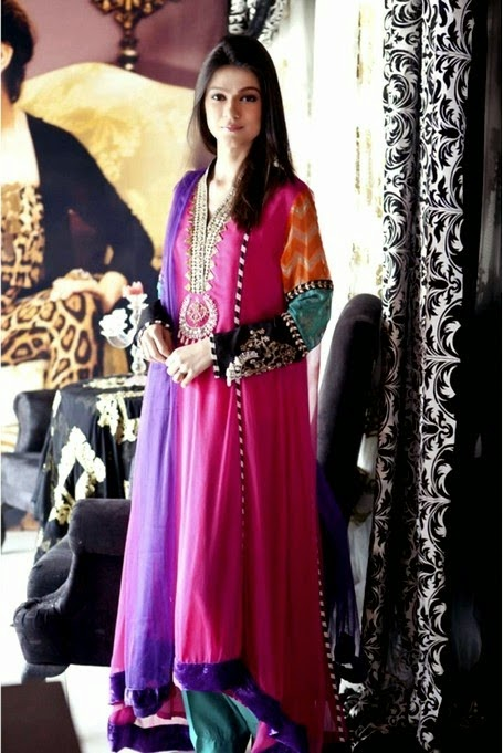 Peshwas Shirts in Pink and Black Colors
