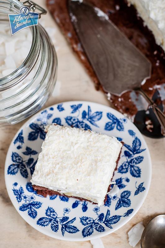Ciasto z kremem kokosowym i ananasem przepis