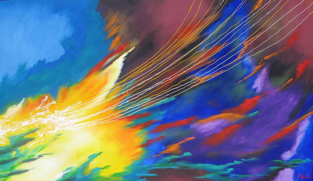 Pinturas cuadros lienzos abstractos modernos - Como pintar un cuadro moderno ...