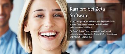 """Das Bild zeigt die Stellenausschreibung """"Junior-Softwareentwickler"""" von Zeta Software"""