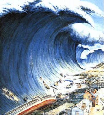 Dibujo de Tsunami