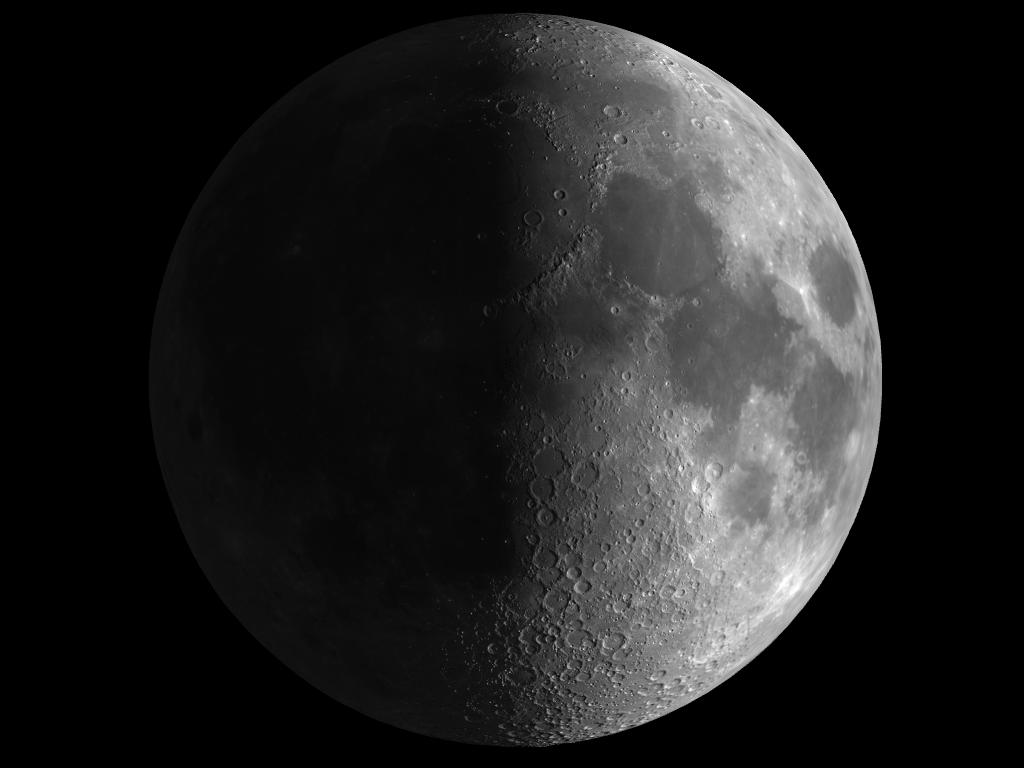 Astronom a luna en fase cuarto creciente for Hoy es cuarto creciente