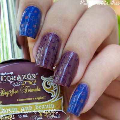 El Corazon Charm & beauty 882 + Maxi matte 16 + konad m94