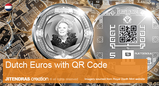 Dutch Euros with QR Code (JITENDRA'S creation)