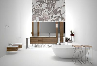decoración minimalista en baños