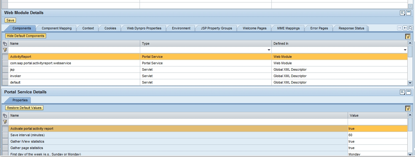 Portal Activity Report Iview in SAP EP 7.3 onlysapep.blogspot.in only sap ep  blogspot