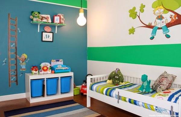 Ideas para pintar un dormitorio infantil dormitorios for Color de pared para dormitorio